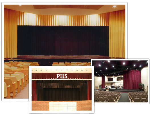 Stage Curtains Image Dark Red Stage Curtain Roll Up