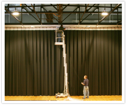 LuXout Stage Curtains - Services - Stage Curtain Installation Services